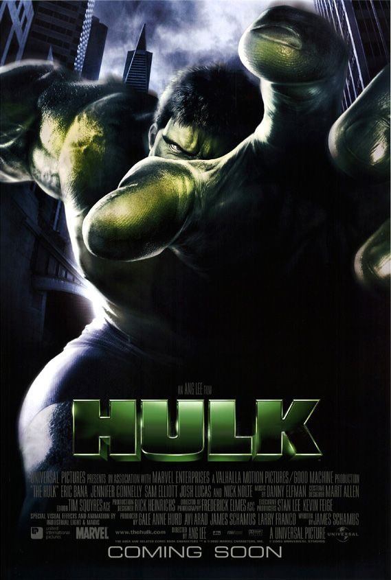 "poster for ""Hulk, The"" by Ang Lee (2003)"