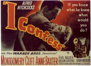 "poster for ""I Confess"""