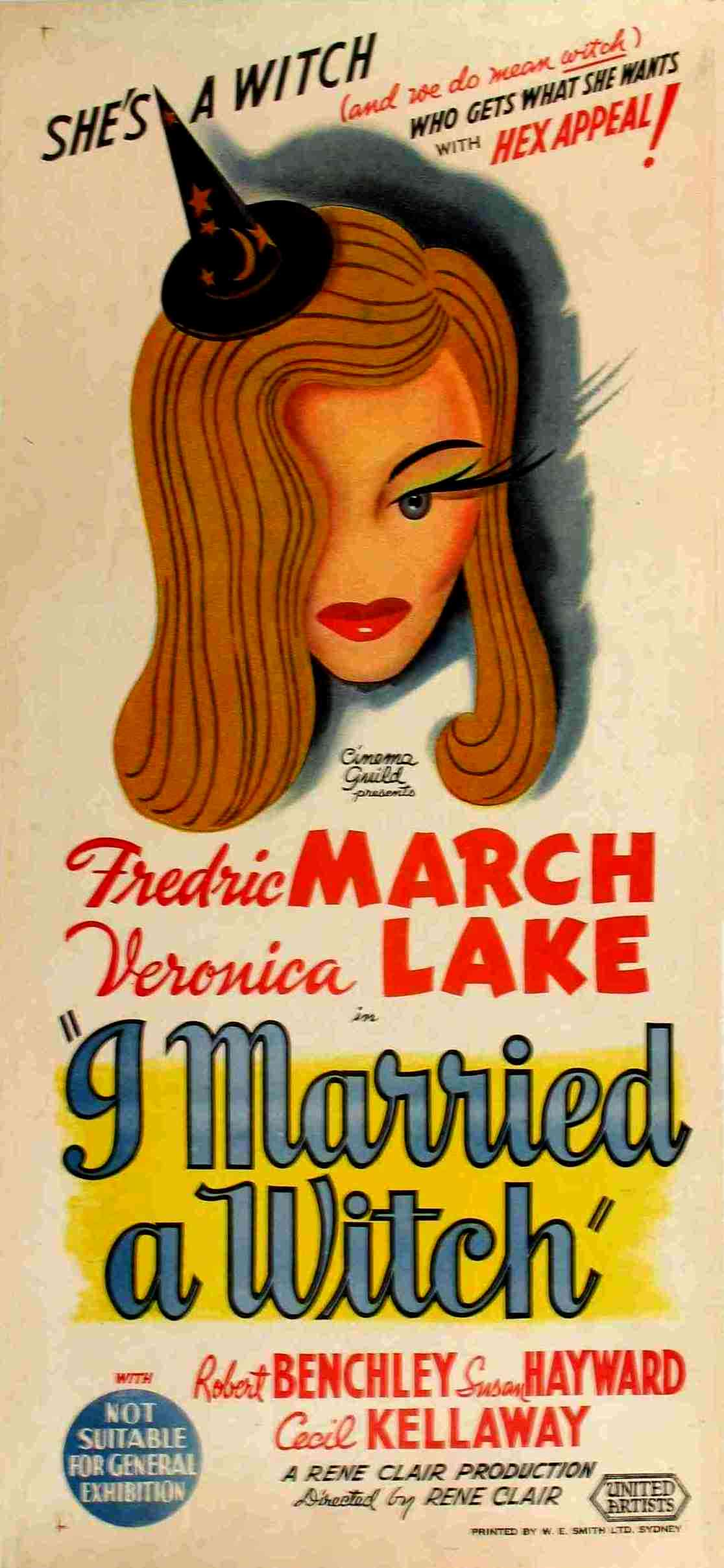 "poster for ""I Married A Witch"" by Ren� Clair(1942)"