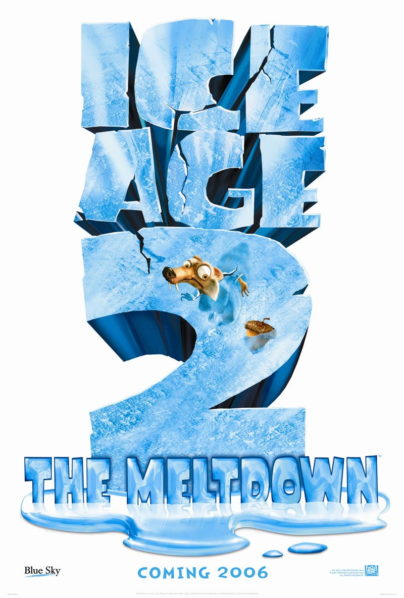 "poster for ""Ice Age 2 The Meltdown"" by Carlos Saldanha(2006)"