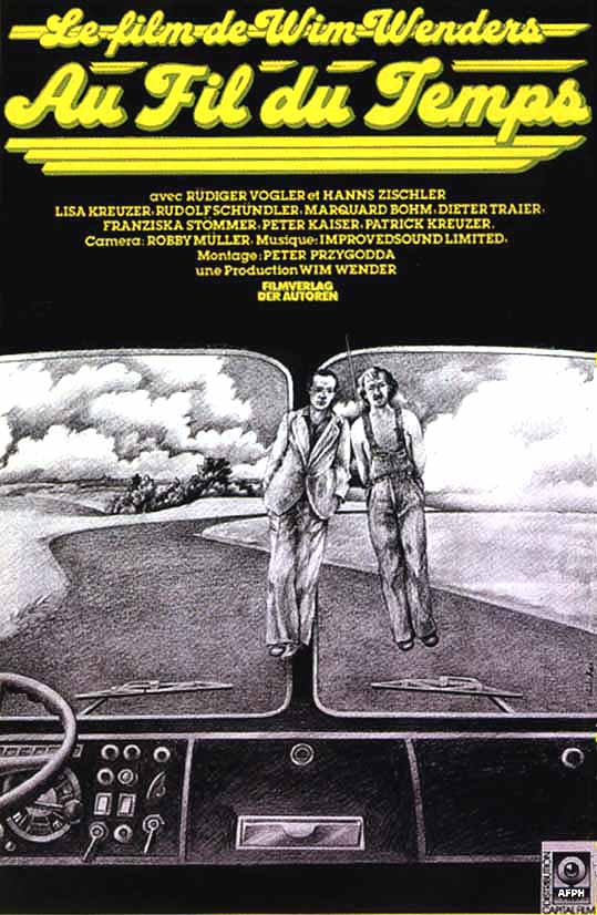 "poster for ""Im Lauf der Zeit (Kings of The Road)"" by Wim Wenders(1976)"