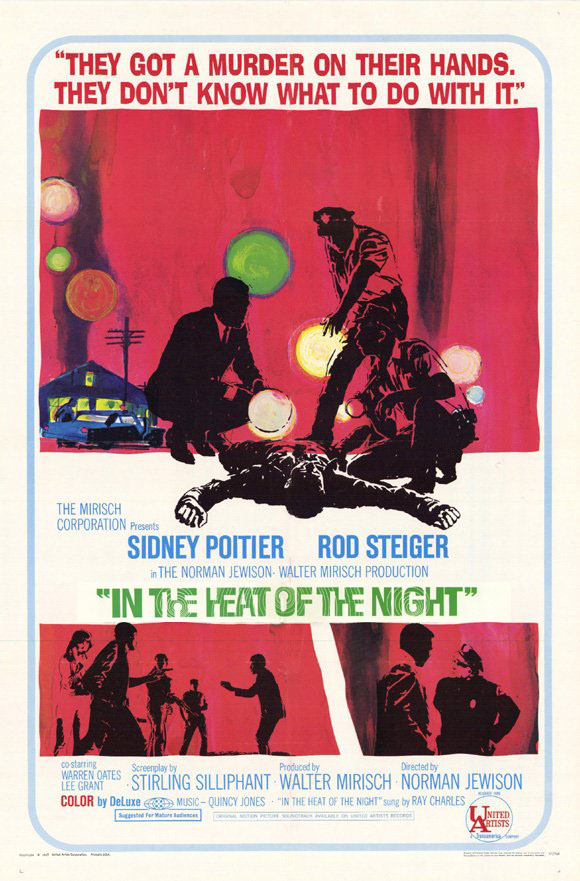 "poster for ""In The Heat Of The Night"" by Norman Jewison(1967)"