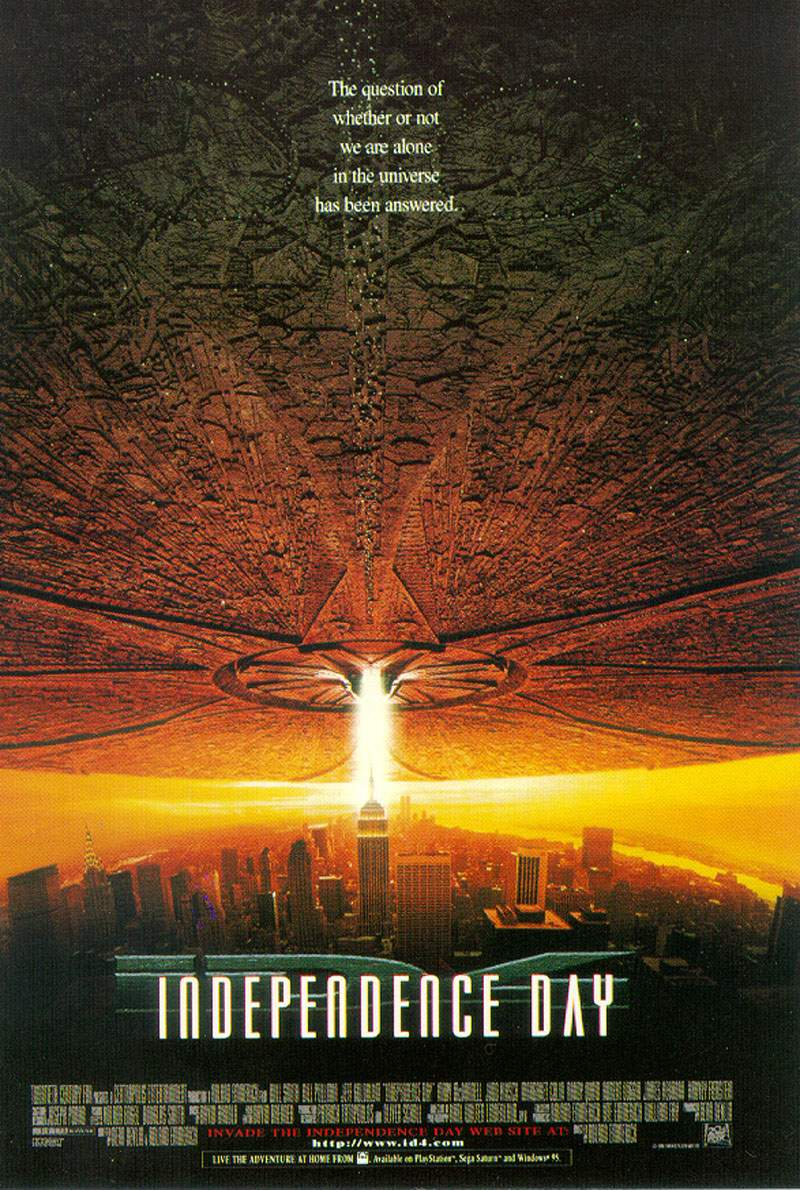 "poster for ""Independence Day"" by Roland Emmerich (1996)"