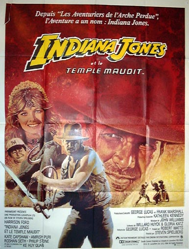 "poster for ""Indiana Jones and The Temple Of Doom&quot"
