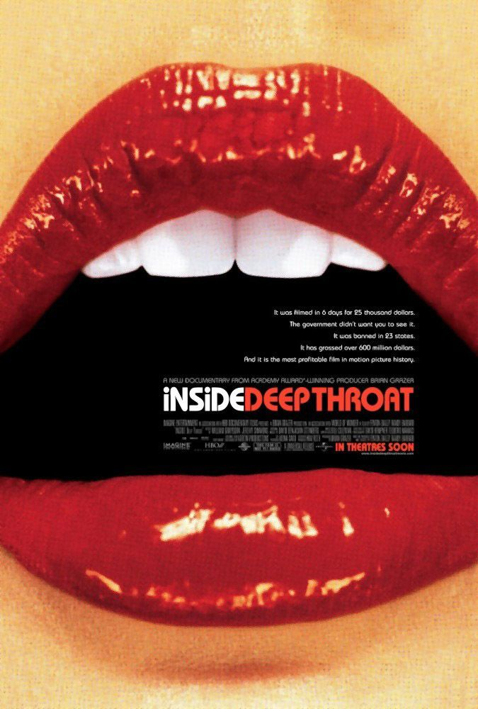 "poster for ""Inside Deep Throat"" by Fenton Bailey 
