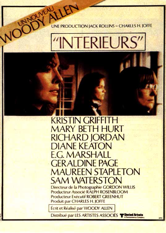 "poster for ""Interiors"" by Woody Allen (1978)"