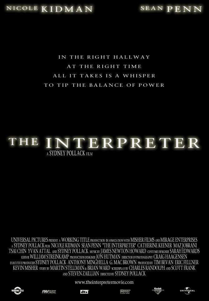 "poster for ""Interpreter, The"" by Sydney Pollack (2005)"