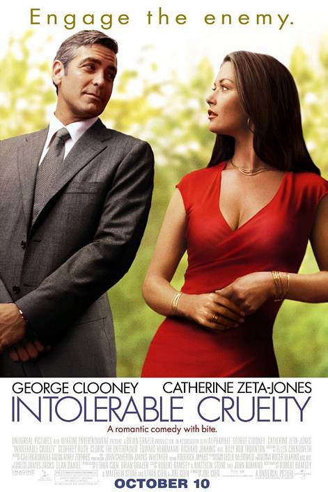 "poster for ""Intolerable Cruelty"" by Joel Coen 