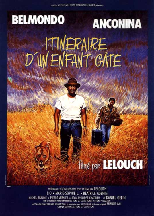 "poster for ""Itin�raire d'un enfant gat�"" by Claude Lelouch(1988)"