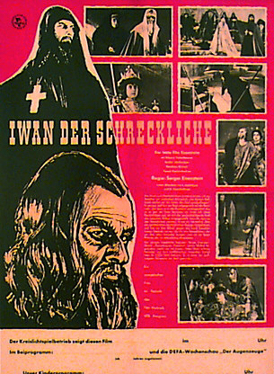 "poster for ""Ivan Groznyj (Ivan the Terrible)"" by Sergei M. Eisenstein(1945)"