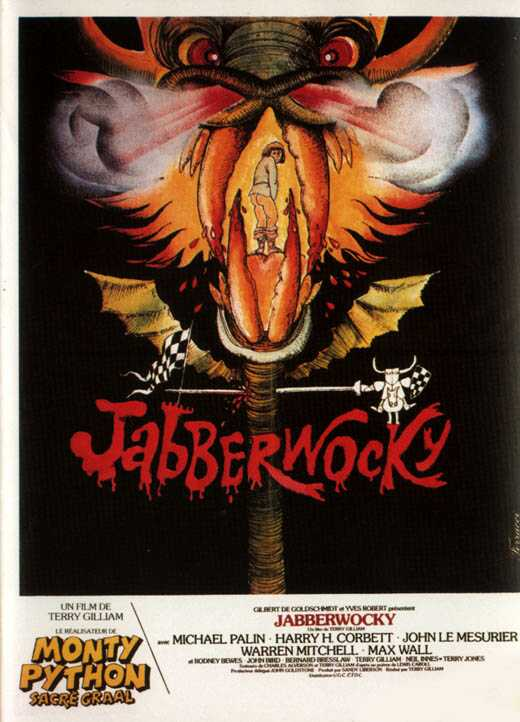 "poster for ""Jabberwocky"" by Terry Gilliam (1977)"