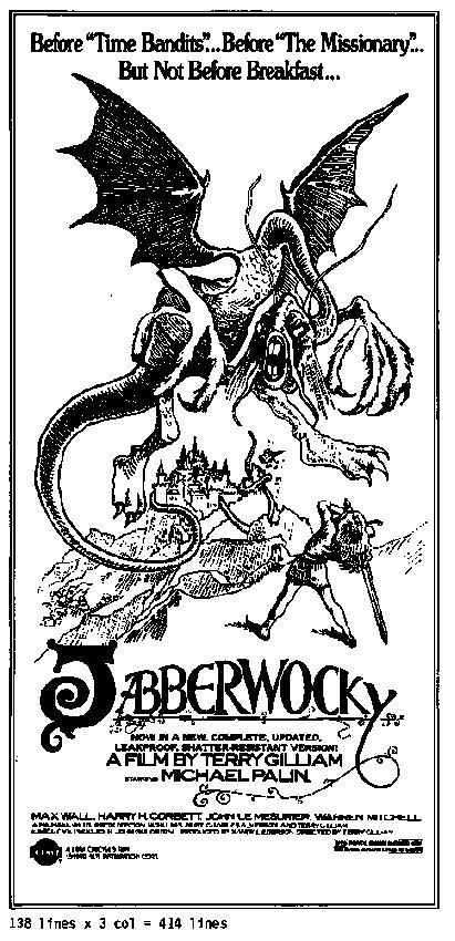 "poster for ""Jabberwocky&quot"