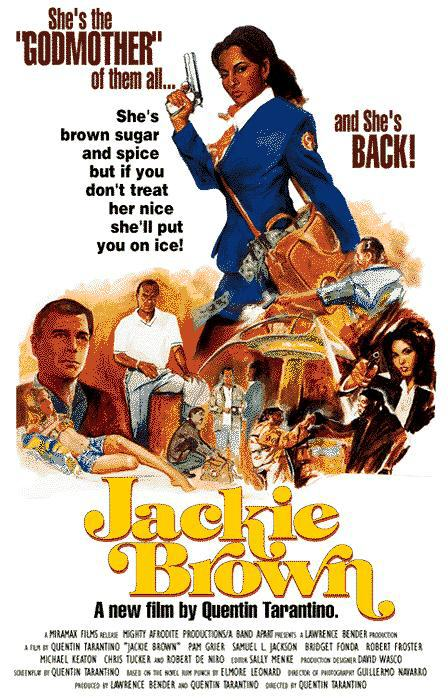 "poster for ""Jackie Brown"" by Quentin Tarantino(1997)"