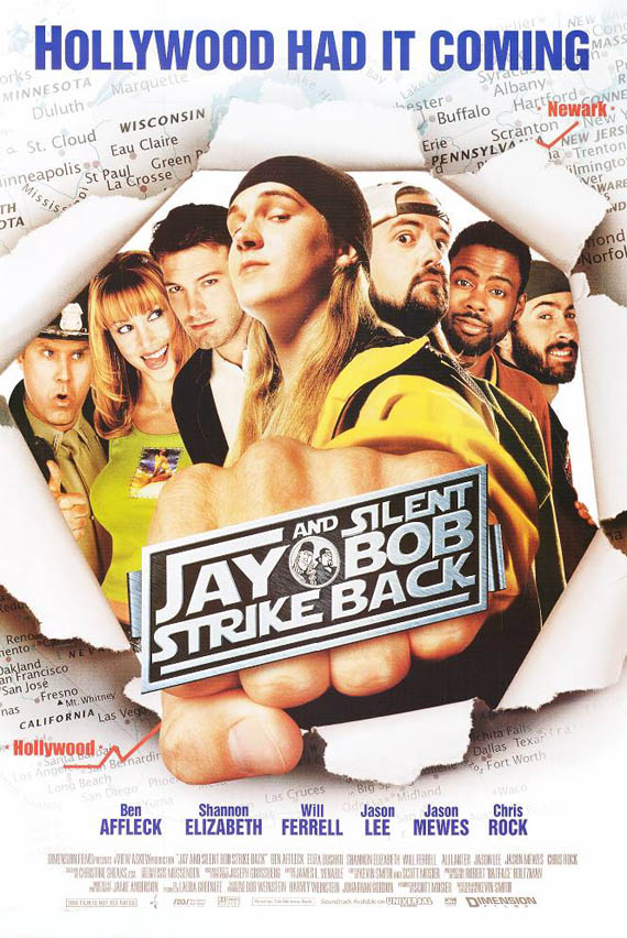 "poster for ""Jay & Silent Bob Strike Back"" by Kevin Smith(2001)"