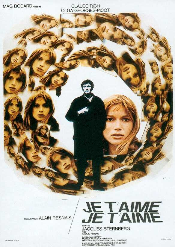 "poster for ""Je T'Aime, Je T'Aime"" by Alain Resnais(1968)"