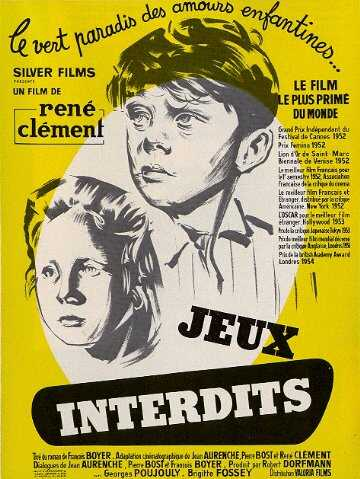 "poster for ""Jeux interdits"" by Ren� Cl�ment(1952)"