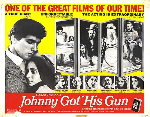 "poster for ""Johnny got his gun"" by Dalton Trumbo(1971)"