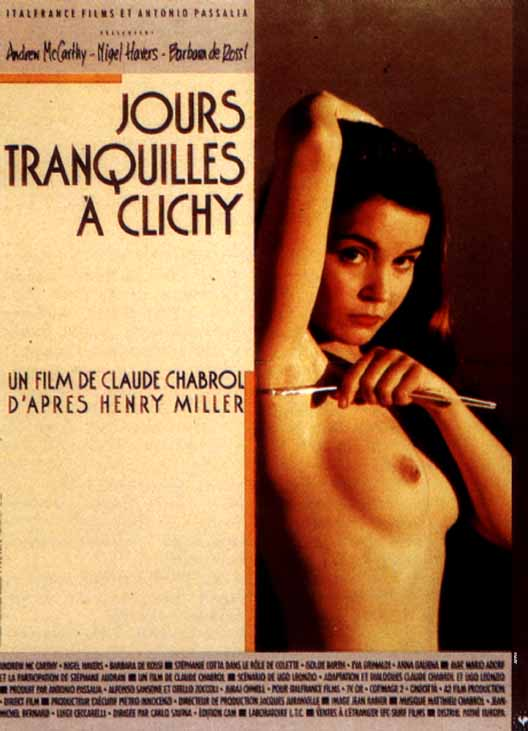 "poster for ""Jours Tranquilles � Clichy"" by Claude Chabrol(1990)"