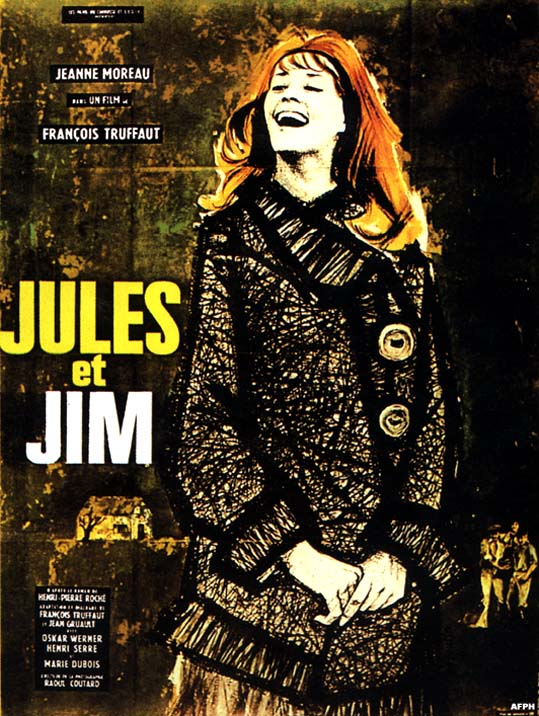 "poster for ""Jules et Jim (Jules and Jim)"" by Fran�ois Truffaut(1962)"