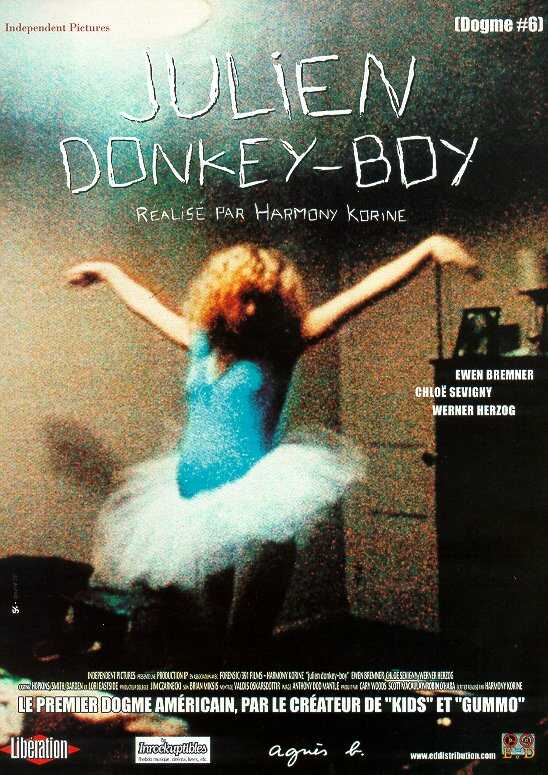 "poster for ""Julien Donkey Boy"" by Harmony Korine(1999)"