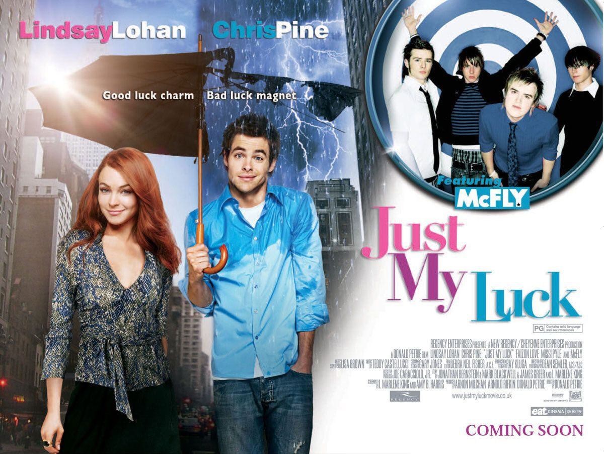 "poster for ""Just my Luck&quot"