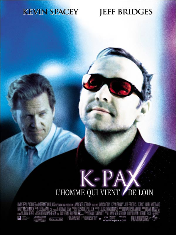 "poster for ""K-PAX"" by Iain Softley (2001)"