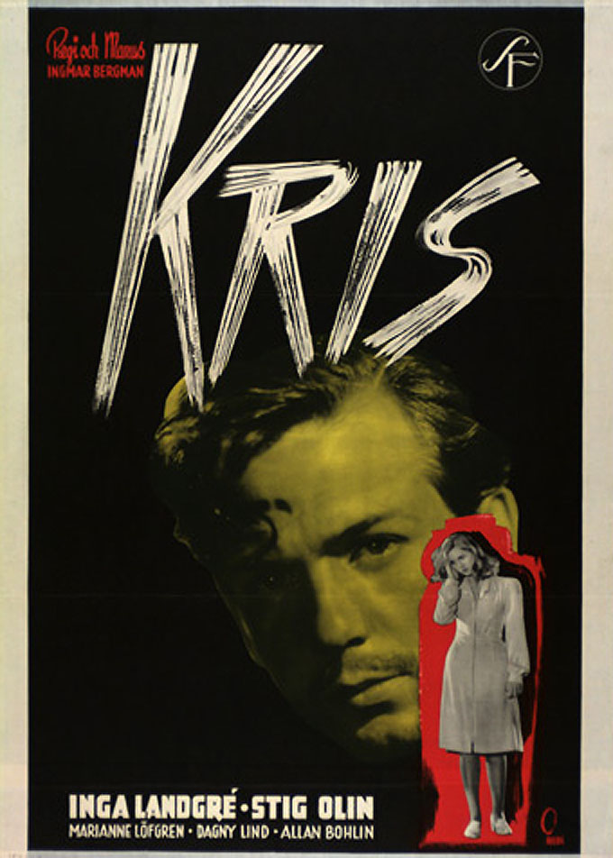 "poster for ""Kris (Crisis)"" by Ingmar Bergman(1946)"