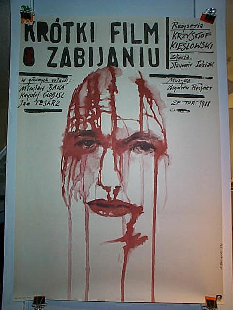 "poster for ""Krotki Film o Zabijaniu (A short Film About Killing)"" by Krzysztof Kieslowski(1988)"