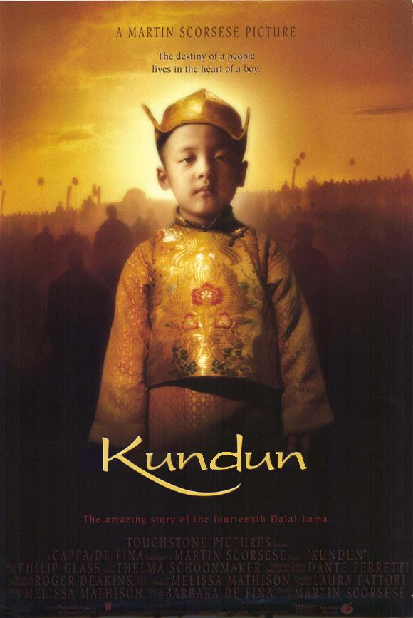 "poster for ""Kundun"" by Martin Scorsese(1997)"
