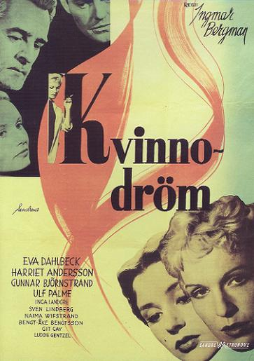 "poster for ""Kvinnodr�m (Dreams)"" by Ingmar Bergman (1955)"