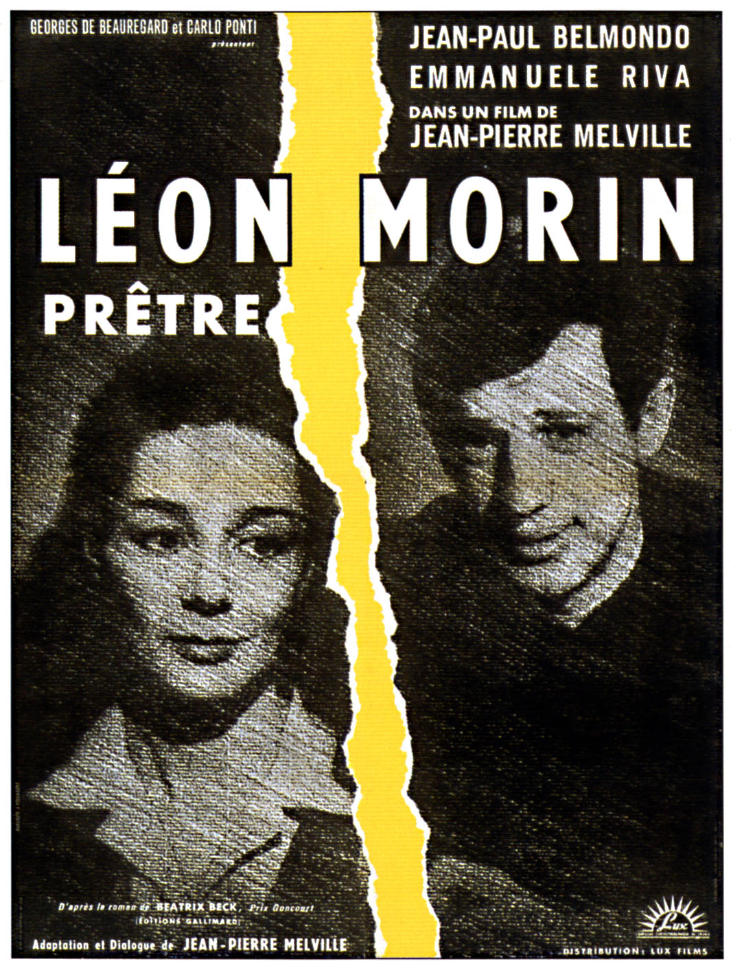"poster for ""L�on Morin, Pr�tre"" by Jean-Pierre Melville (1961)"