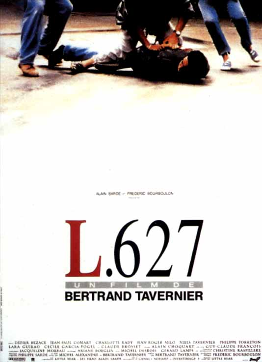 "poster for ""L.627"" by Bertrand Tavernier(1992)"