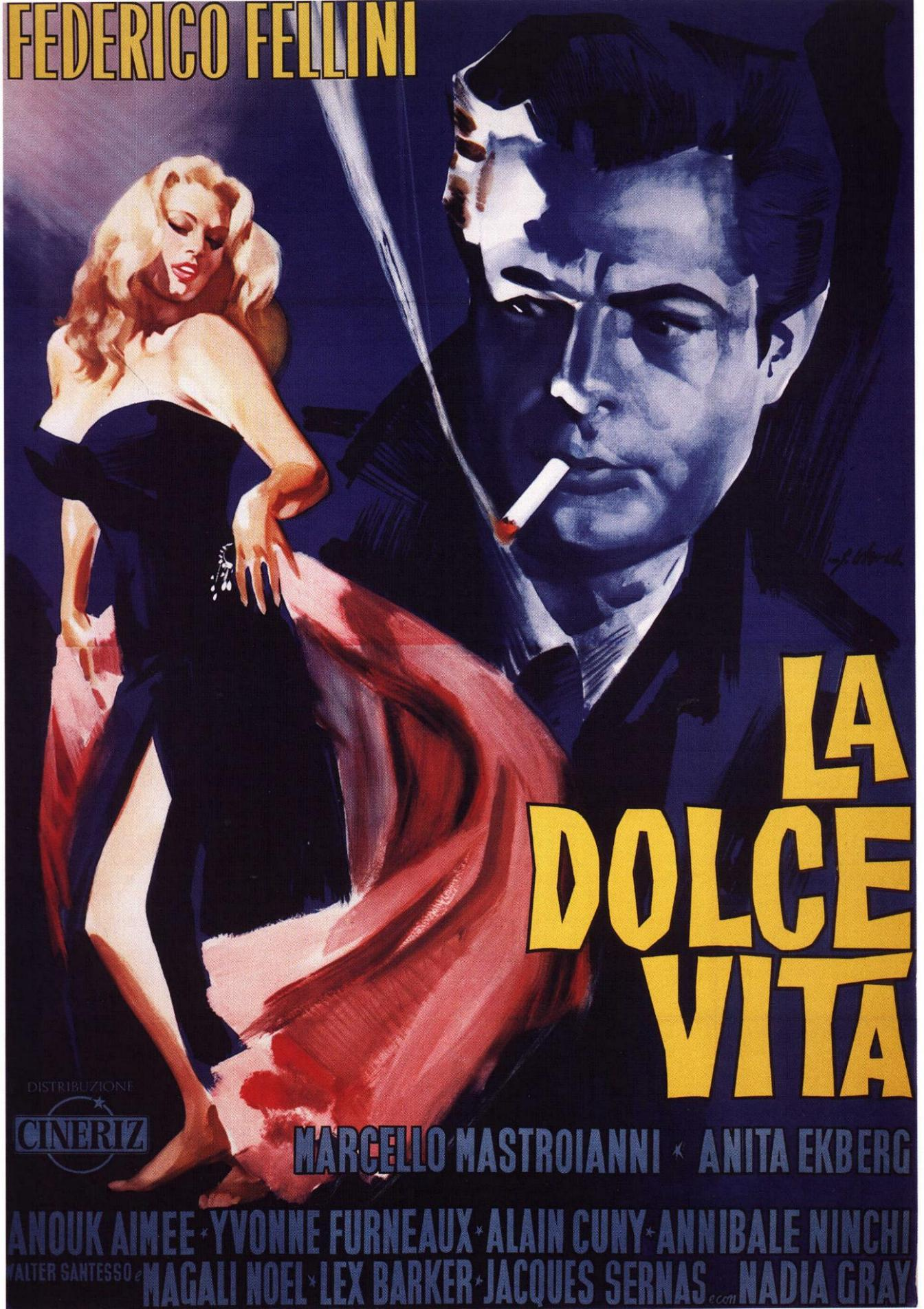 "poster for ""La Dolce Vita"" by Federico Fellini(1960)"