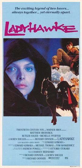 "poster for ""Ladyhawke&quot"