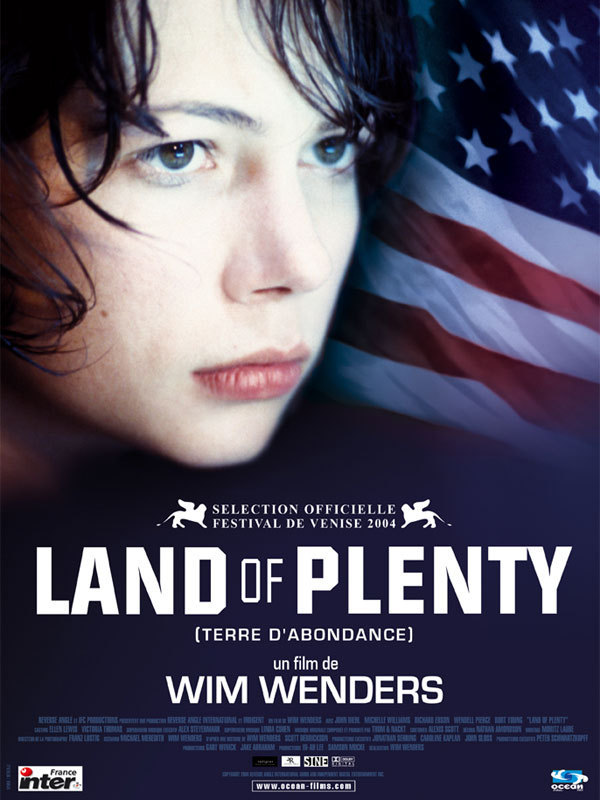 "poster for ""Land of Plenty"" by Wim Wenders (2004)"