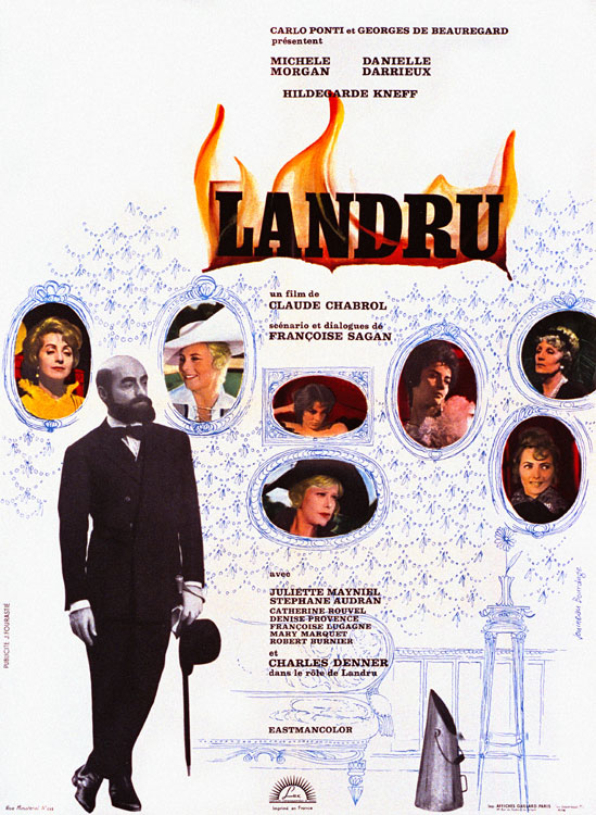 "poster for ""Landru"" by Claude Chabrol (1962)"