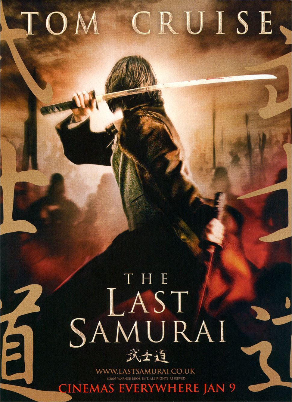 "poster for ""Last Samurai, The"" by Edward Zwick(2003)"