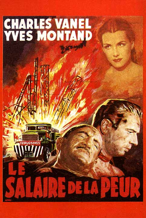 "poster for ""Salaire de la Peur, Le (Wages of Fear)"" by Henri-Georges Clouzot(1953)"