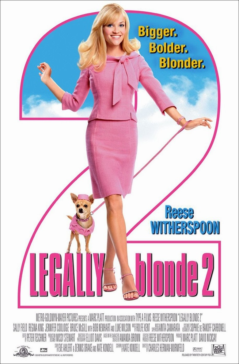 "poster for ""Legally Blonde 2"" by Charles Herman-Wurmfeld (2003)"
