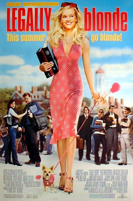 "poster for ""Legally Blonde"" by Robert Luketic (2001)"