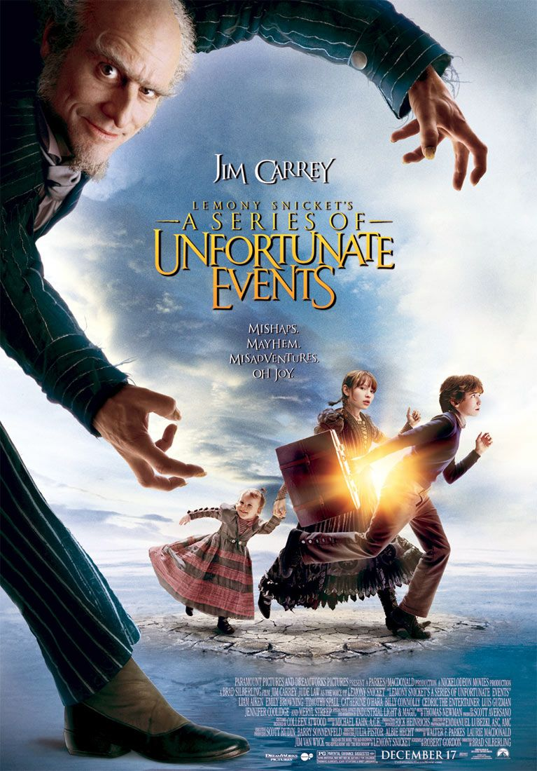 "poster for ""Lemony Snickets A Series of Unfortunate Events"" by Brad Silberling (2004)"