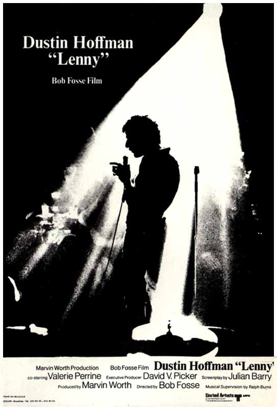 "poster for ""Lenny"" by Bob Fosse(1974)"