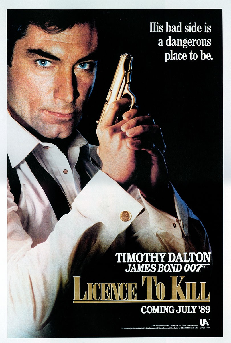 "poster for ""Licence To Kill"" by John Glen(1989)"