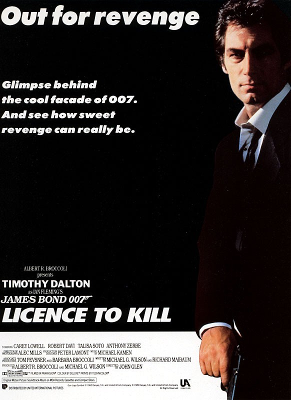 "poster for ""Licence To Kill&quot"