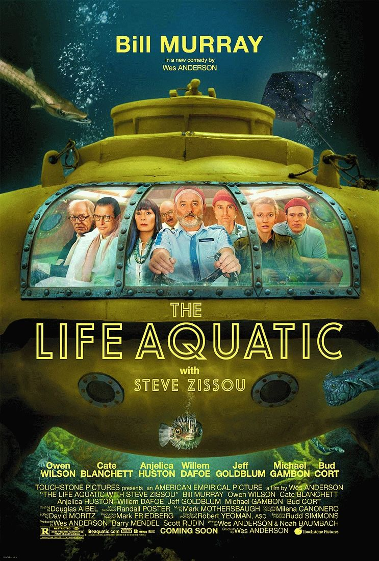 "poster for ""Life Aquatic with Steve Zissou, The"" by Wes Anderson (2004)"