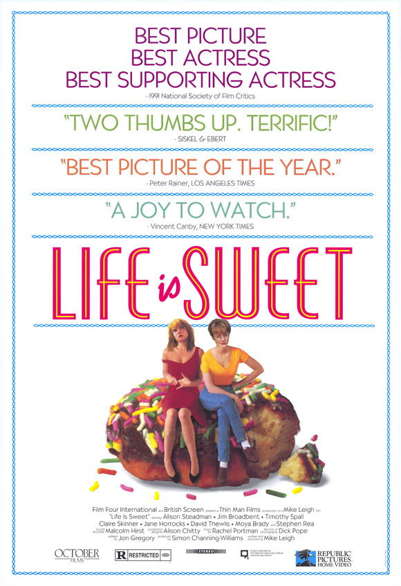 "poster for ""Life Is Sweet"" by Mike Leigh(1990)"
