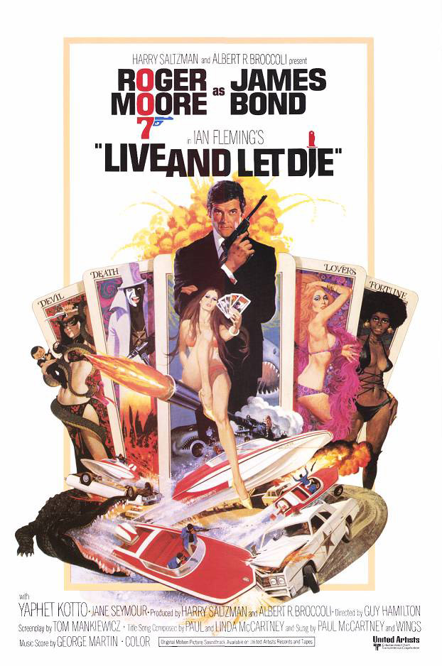 "poster for ""Live and Let Die"" by Guy Hamilton (1973)"