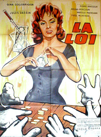 "poster for ""Legge, La (Loi, La)&quot"