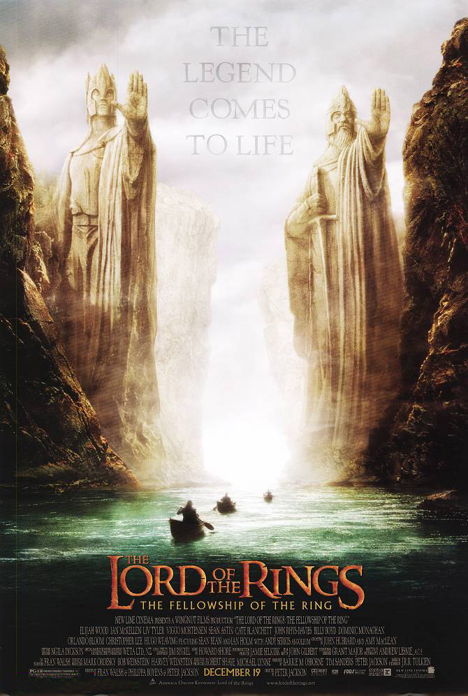 "poster for ""Lord of the Rings: The Fellowship of the Ring, The"" by Peter Jackson (2001)"