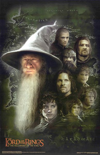 "poster for ""Lord of the Rings: The Fellowship of the Ring, The&quot"